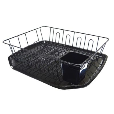 Large Dish Drainer in Black