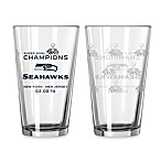 NFL Seattle Seahawks Super Bowl XLVIII Champions 16-Ounce Pint Glasses (Set of 2)