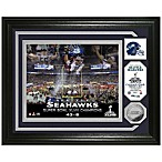 NFL Seattle Seahawks Super Bowl XLVIII Champions Celebration Bronze Coin Photo Mint Frame