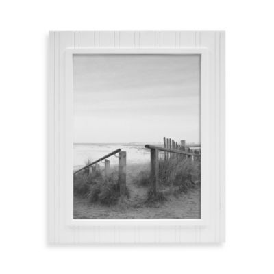 Beadboard 11-Inch x 14-Inch Wood Picture Frame in White
