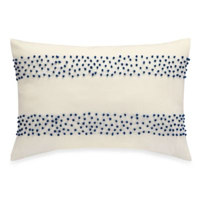 Anthology™ Jolie Oblong Throw Pillow in Blue/White