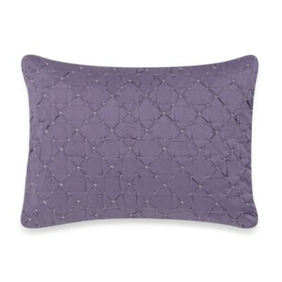 Vera Wang Violet Breakfast Oblong Toss Pillow in Dark Violet
