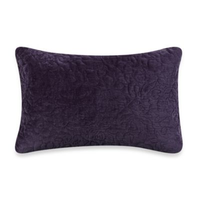 Vera Wang Violet Breakfast Oblong Toss Pillow in Deep Plum