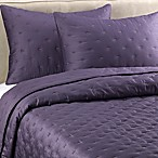 Vera Wang Violet Quilted Pillow Sham