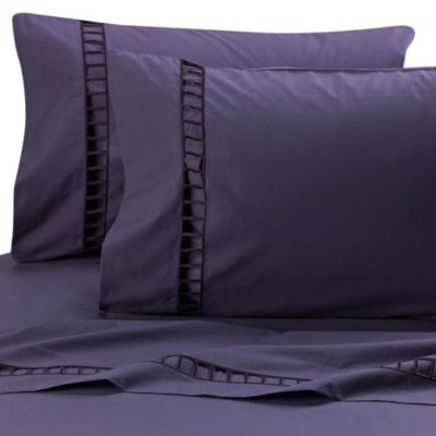 Vera Wang Violet Fitted Sheet