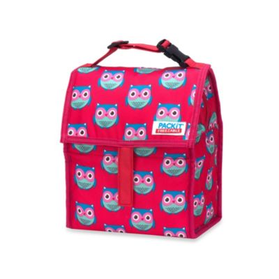 PackIt® Freezable Lunch Bag in Pink Owls