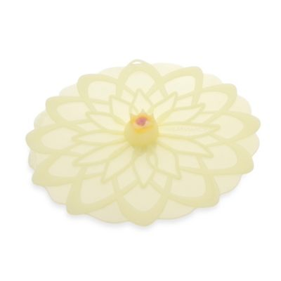 Charles Viancin® Dahlia™ Medium 9-Inch Silicone Lid in Yellow