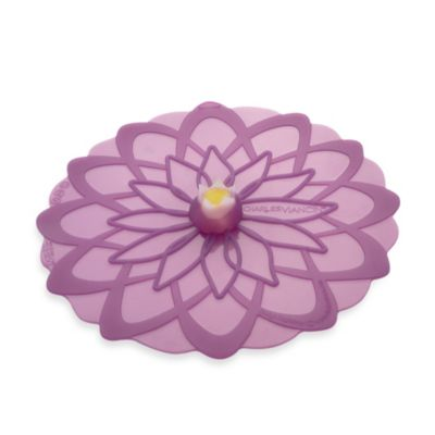 Charles Viancin® Dahlia™ Medium 9-Inch Silicone Lid in Purple