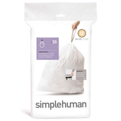 simplehuman® 20-Pack Code Q Custom Fit 50-Liter Can Liners