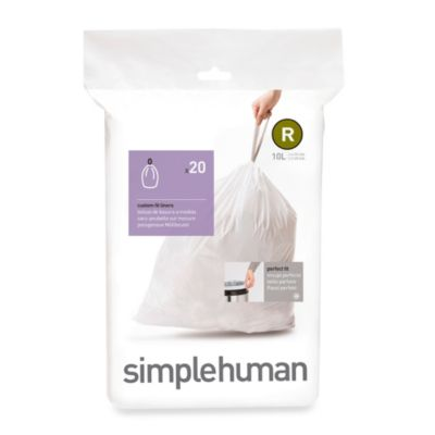 simplehuman® Code R 20-Pack 2.6-Gallon Custom Fit Liners