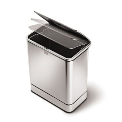 simplehuman® Rectangular Sensor Trash Can and Can Liners