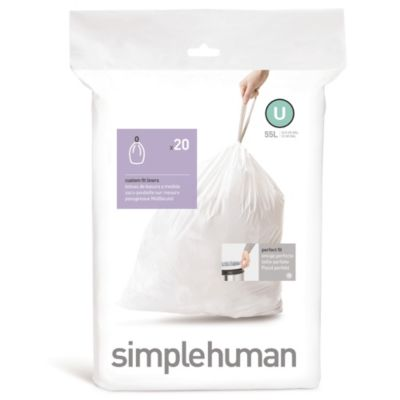 simplehuman® Code U Custom Fit 55-Liter Can Liners (Set of 20)