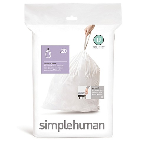 simplehuman® Code U 20-Pack 14.5-Gallon Custom Fit Liners