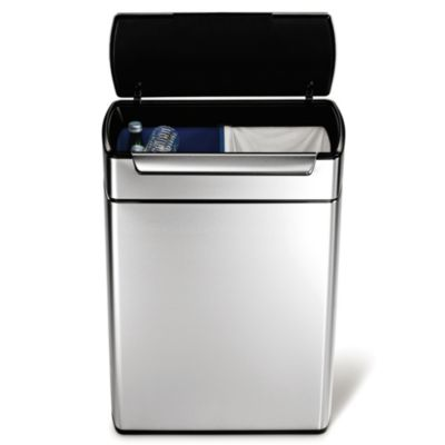 simplehuman® 48-Liter Rectangular Touch Bar Recycler