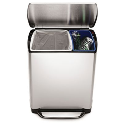 simplehuman® 46-Liter Rectangular Step Recycler