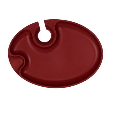 Prodyne Wine 'N Dine Party Plate in Red