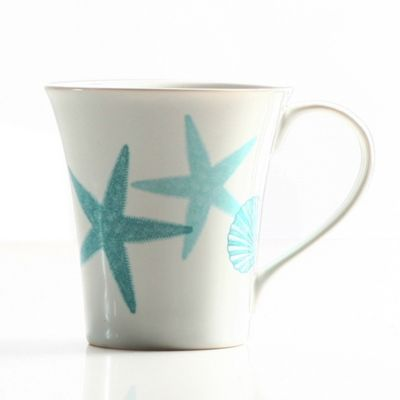 Coastal Life Starfish Mug in Teal Blue