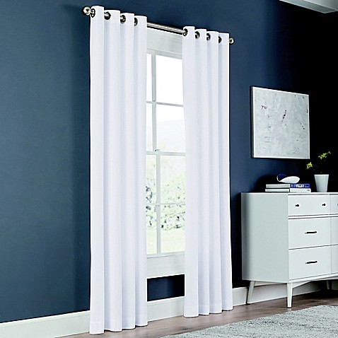 Newport 84-Inch Grommet Window Curtain Panel in White