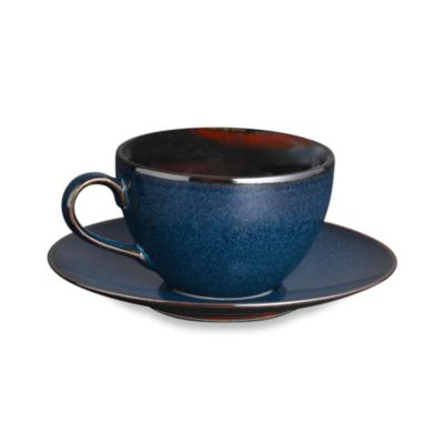 Mikasa® Sedona Blue/Brown Teacup and Saucer