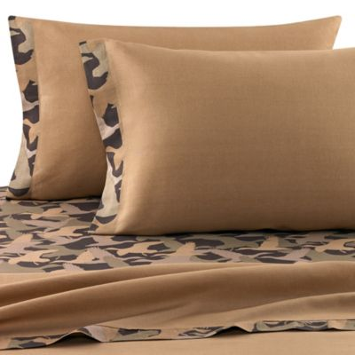Duck Dynasty® Camo Logo Stripe Full Sheet Set