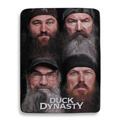 "Duck Dynasty® ""Four Faces"" 2 Ply Fleece Throw Blanket"