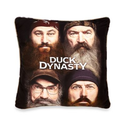 "Duck Dynasty® ""Four Faces"" Decorative Pillow"