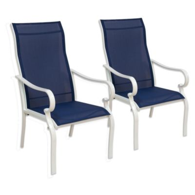 Oversized Sling Chairs in Blue (Set of 2)