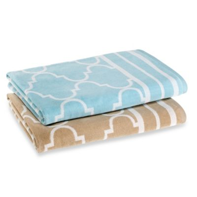 Fretwork Beach Towel in Sand
