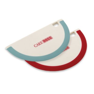 Cake Boss Bowl Scrapers in Red (Set of 2)