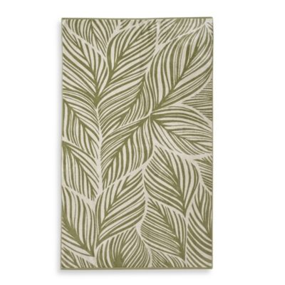 Palm Frond Beach Towel in Green