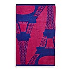 Eiffel Tower Beach Towel in Purple