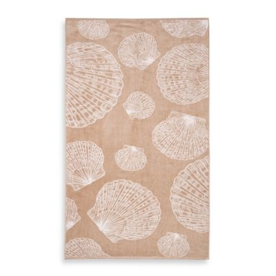 Sea Shells Beach Towel in Sand