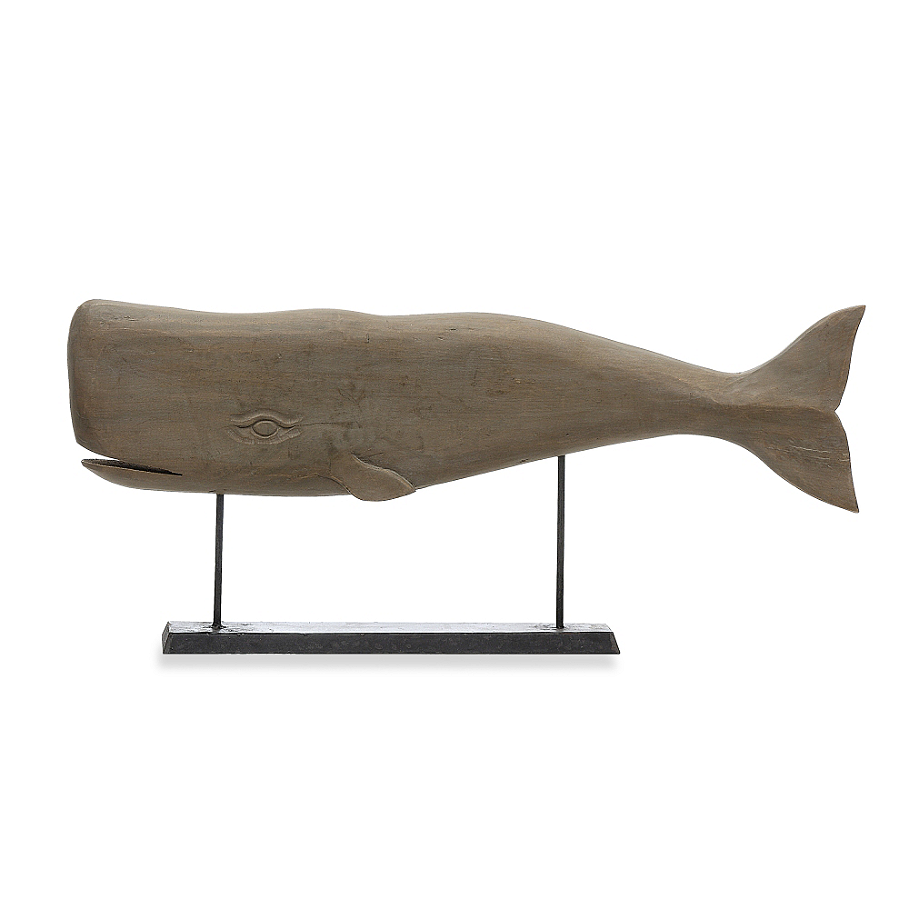 Mango Wood Carved Whale
