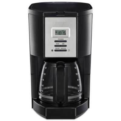 Krups 12-Cup Programmable Coffee Maker in Black - Bed Bath & Beyond