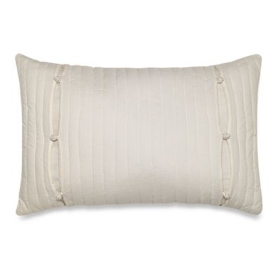 Nostalgia Home® Lexington Quilted Oblong Toss Pillow in Ivory