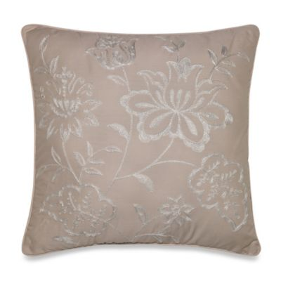 Nostalgia Home® Lexington Floral Square Toss Pillow in Taupe