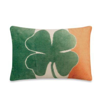Irish Shamrock Throw Pillow
