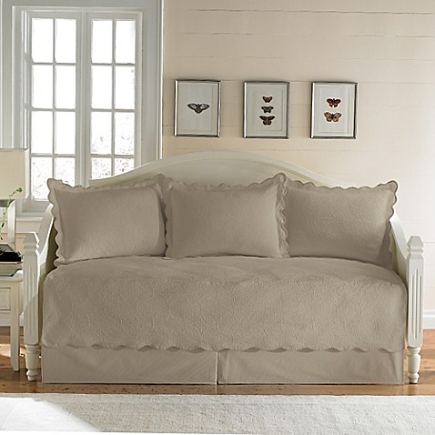 Matelasse Daybed Bedding Set In Taupe Bed Bath Beyond