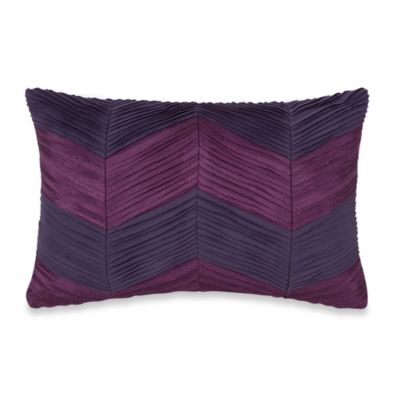 Purple Grey Throw Pillow