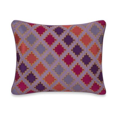 Collier Campbell Ziggurat Diamond Geo Oblong Throw Pillow