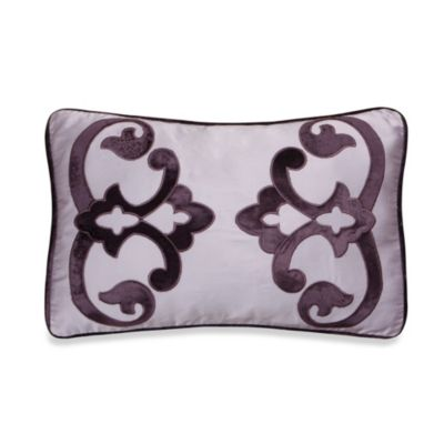 Jolie Decorative 20-Inch Oblong Throw Pillow in Purple