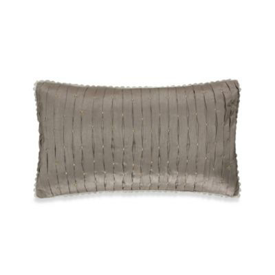 Colette Decorative Oblong Throw Pillow in Grey