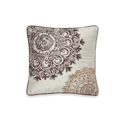 Colette Decorative Square 18-Inch Throw Pillow