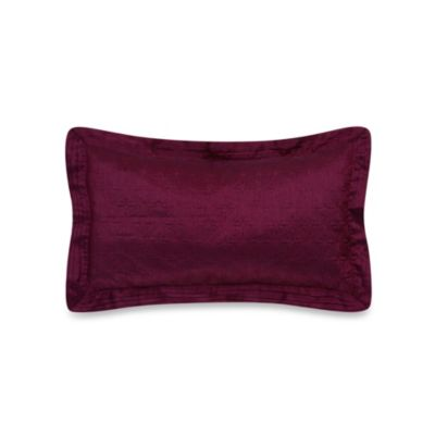 Colette Decorative Oblong Throw Pillow in Burgundy