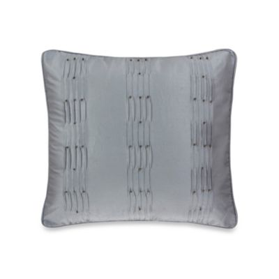 Rochelle Decorative 18-Inch Square Toss Pillow in Grey