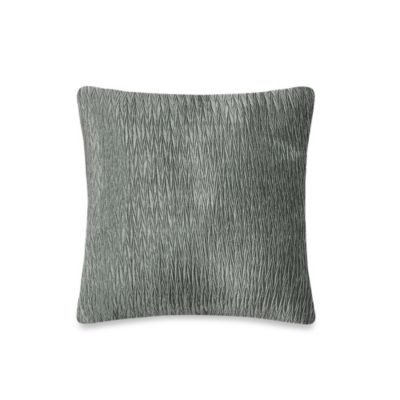 Rochelle Patchwork Faux Silk with Embellished Velvet 20-Inch Square Throw Pillow in Light Grey