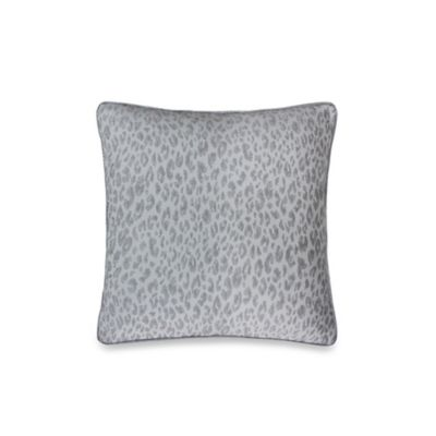 Vienna Mixed Animal Print Decorative 20-Inch Square Throw Pillow in Light Grey