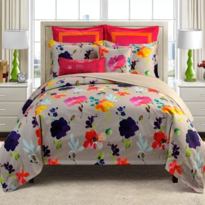 Merritt Watercolor Floral Reversible Twin Comforter Set
