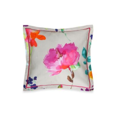 Merritt Watercolor Floral Square Throw Pillow
