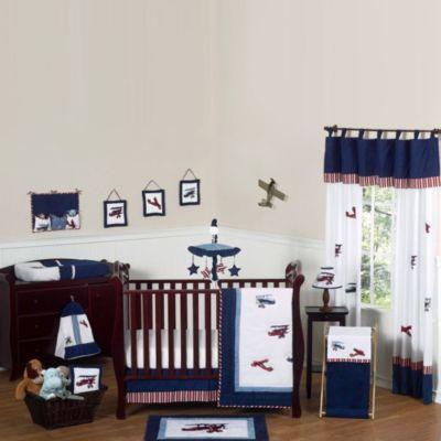 Sweet Jojo Designs Vintage Aviator 11-Piece Crib Bedding Set
